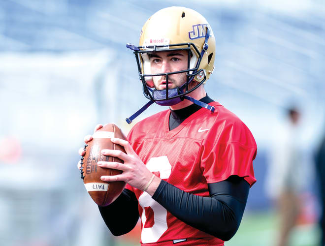 Former Pitt quarterback Ben DiNucci joined the Dukes during the spring.