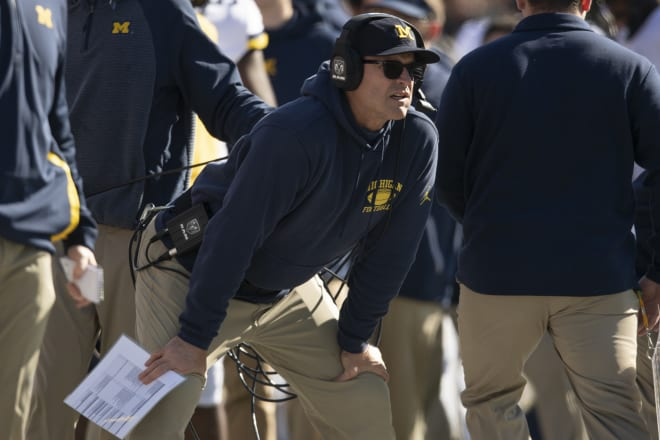 Michigan Wolverines head football coach Jim Harbaugh has a top-10 2022 recruiting class.