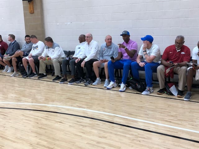 Coaches take in Wednesday night action