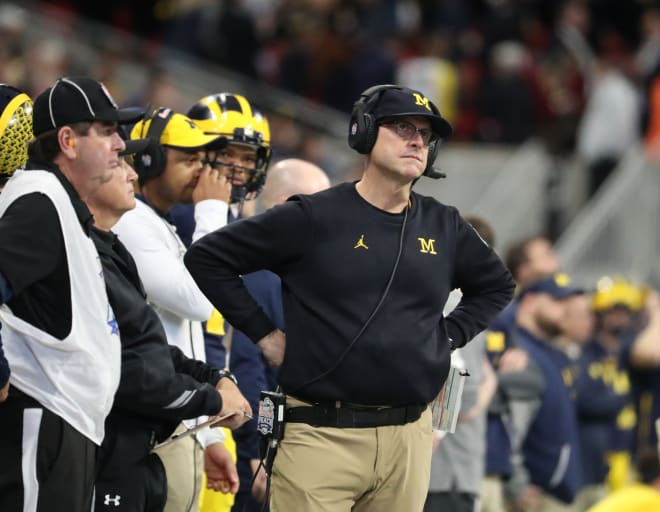 Jim Harbaugh and the Wolverines were disappointed with a Peach Bowl that soured quickly.