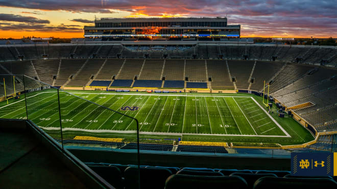 Notre Dame's 24-game home winning streak in Notre Dame Stadium  is five away from breaking the school-record 28 from 1942-50.
