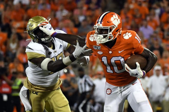 Clemson gave Tech the stiff arm in the season opener last year in Death Valley