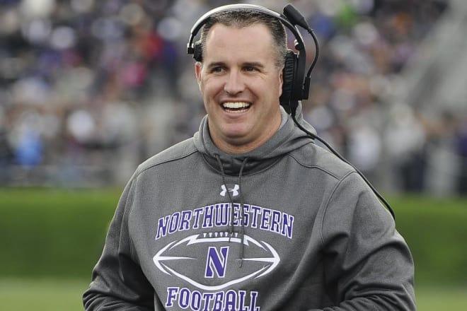 Northwestern head coach Pat Fitzgerald
