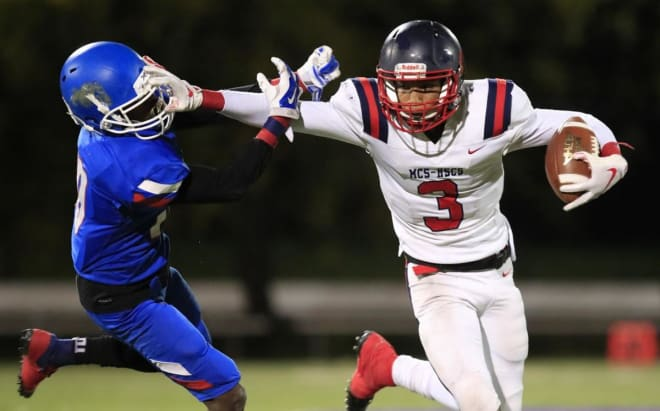 Buffalo (N.Y.) Western Maritime wide receiver and Notre Dame recruiting target Addison Copeland III