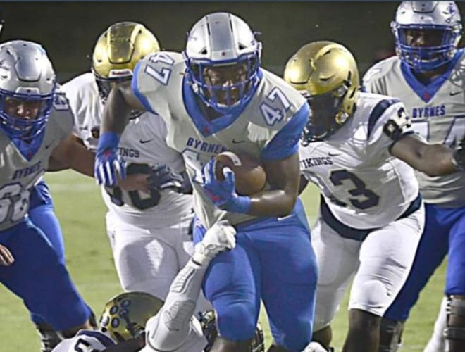 Byrnes running back Rahjai Harris made his verbal commitment to East Carolina on Saturday.
