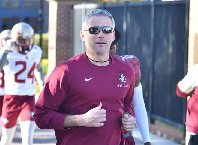 FSU football coach Mike Norvell is one of very few Power 5 coaches that actually allows media to watch some of his practices.