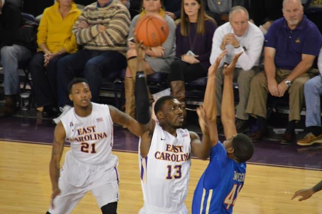 East Carolina senior Michel Nzege hopes to add to his Pirate basketball resume' this season.