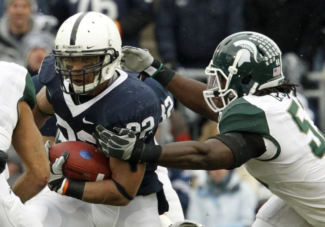 Penn State Nittany Lions football running back Evan Royster.