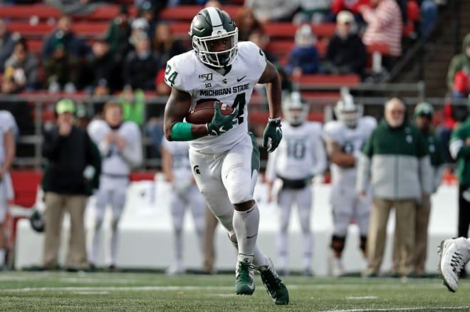 Michigan State Spartans running back Elijah Collins