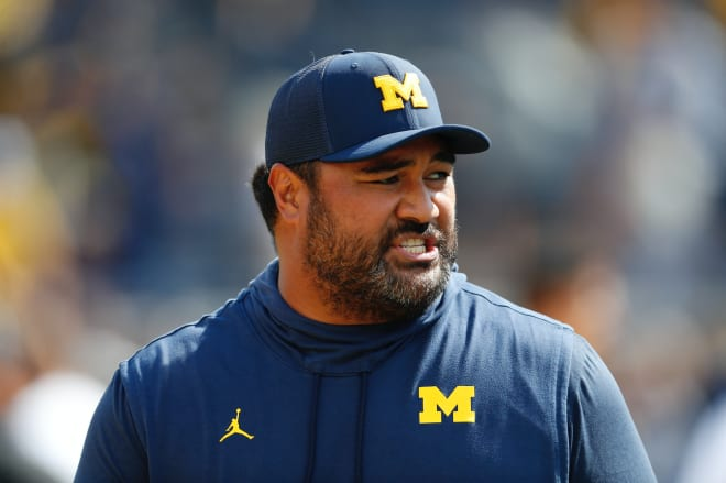 Michigan Wolverines football defensive line coach Shaun Nua is entering his third year on the job.