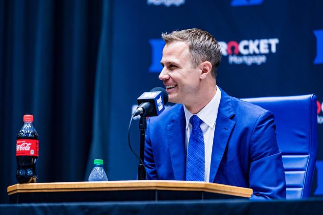 Jon Scheyer was introduced as Duke's next head coach on Friday.