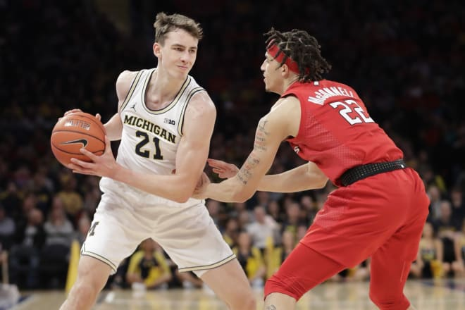 Michigan Wolverines basketball sophomore wing Franz Wagner helped U-M beat Rutgers last season at Madison Square Garden.