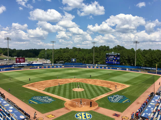 The 2021 SEC Baseball Tournament is scheduled for May 25-30 in Hoover, Ala.