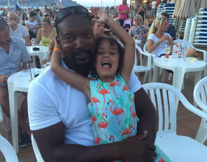 Mel McCants is enjoying life overseas with his young daughter.