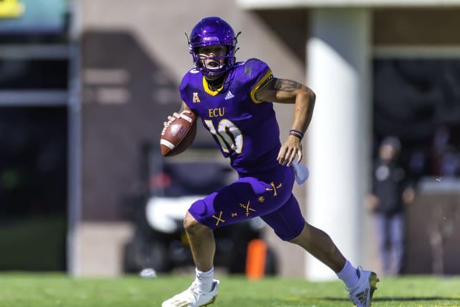 East Carolina quarterback Mason Garcia picked up valuable experience in Saturday's loss to Navy.