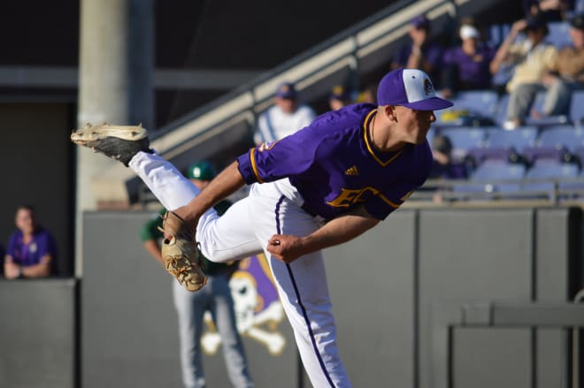 East Carolina added a pair of wins in American Athletic Conference play in their Friday double-header at Cincinnati.