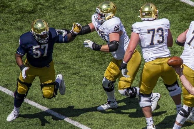Notre Dame Fighting Irish football senior defensive tackle Jayson Ademilola