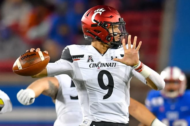 Quarterback Desmond Ridder has passed for 6.905 yards and run for 1,814 in his career.