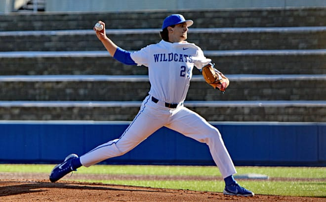Freshman right-hander Ryan Hagenow struck out six over four innings in his UK debut.