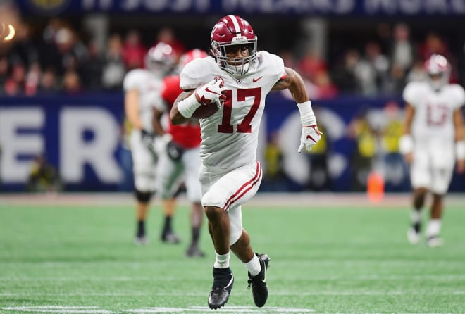 Alabama receiver Jaylen Waddle is one the Crimson Tide's award hopefuls in 2020 (Photo by Scott Cunningham/Getty Images)