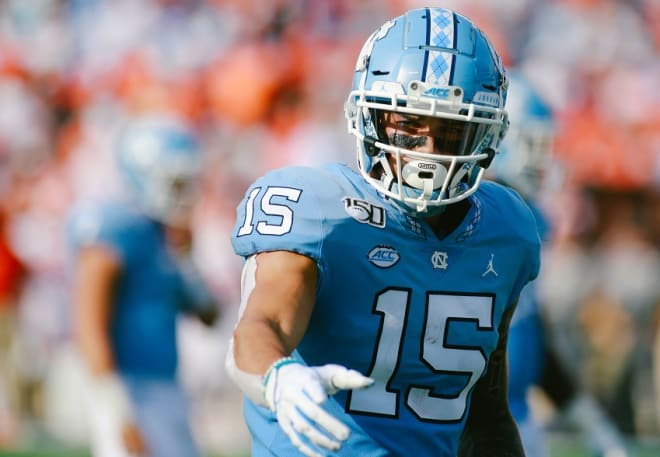 UNC WR Beau Corrales joined a movement Sunday, but he took it a step further for personal reasons.