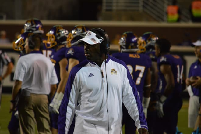Second year ECU head coach Scottie Montgomery is poised for a breakthrough victory on Saturday.