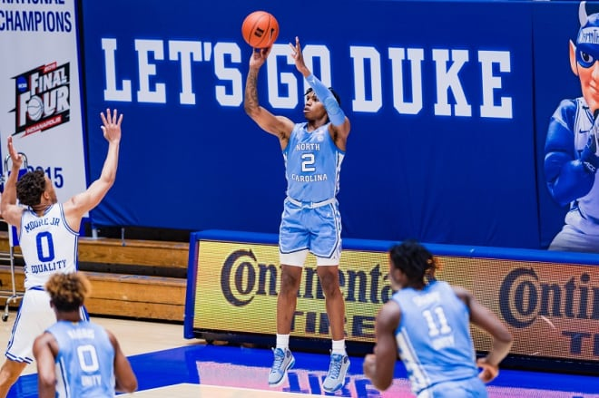 THI looks at UNC PG Caleb Love's game from this past season while looking ahead to next winter.