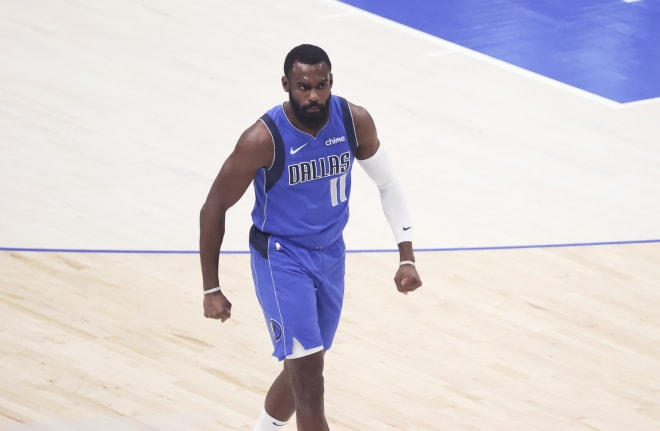 Former Michigan Wolverines basketball star Tim Hardaway Jr. has now scored 20 or more points in five career playoff games.