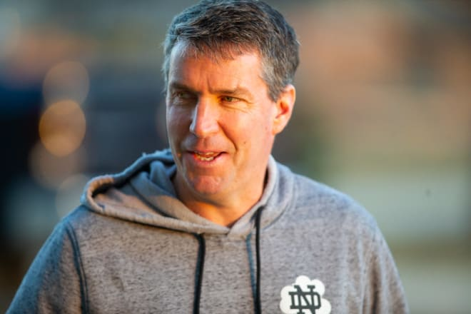 Notre Dame tight ends coach John McNulty