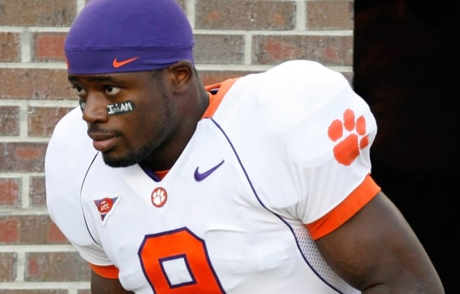 McElrathbey was recruited to Clemson in 2005 by former Tiger running backs coach Burton Burns.
