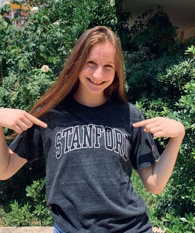 Bosgana had to search through Athens for a Stanford shirt. She is the first European player to commit to the program.