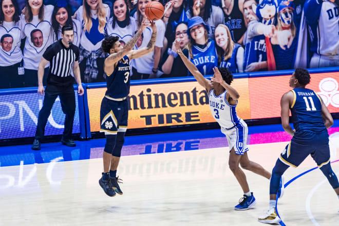 Notre Dame Fighting Irish men's basketball junior guard Prentiss Hubb
