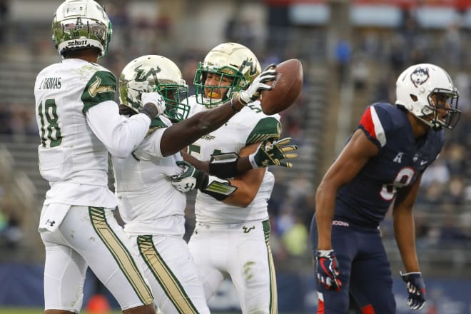 USF had their 2017 game against UMass cancelled due to scheduling adjustments because of the hurricane
