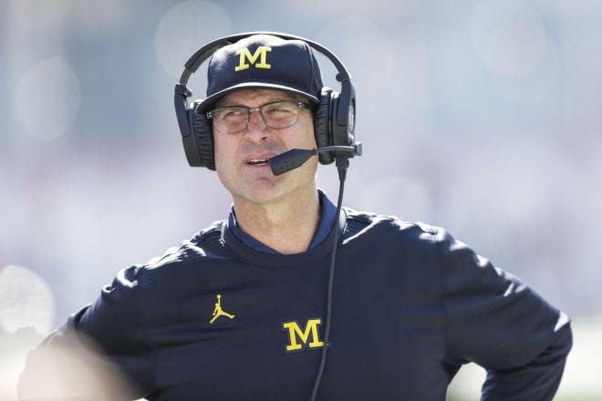 Michigan Wolverines head football coach Jim Harbaugh has won 69 percent of his games in six seasons at U-M.