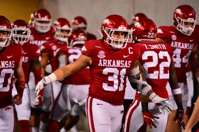 Grant Morgan is returning to Arkansas for a sixth year in 2021.