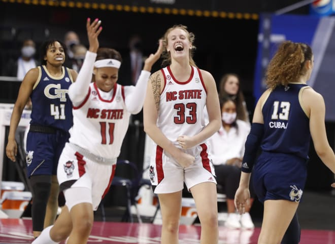 NC State Wolfpack women's basketball Elissa Cunane and Jakia Brown-Turner