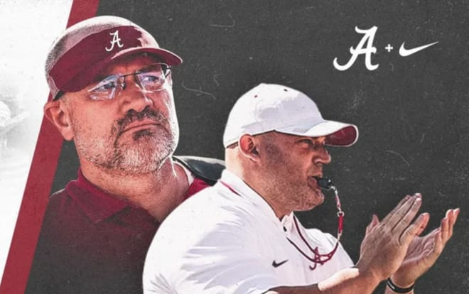 Alabama strength and conditioning coordinators Dr. Matt Rhea (left) and David Ballou (right). Illustration | Alabama Athletics